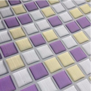 Mosaic Purple Wall Stickers For Kitchen Backsplash Waterproof And Reusable Home Decor Kitchen Mosaic Wall Tile Purple Peel