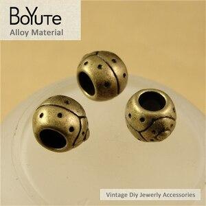 BoYuTe (50 шт./лот) 10 мм античные бронзовые покрытые металлом модные бусины для насекомых для ювелирных изделий Компоненты Diy ручной работы