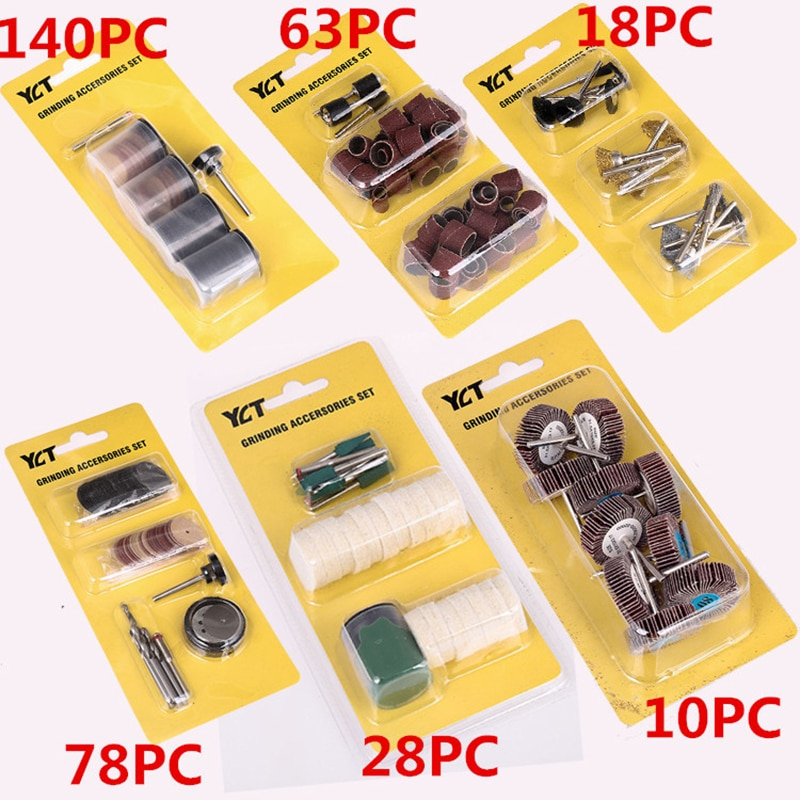 1 set set di punte per accessori per utensili rotanti per smerigliatrice elettrica per disco da trapano Dremel per levigatura e lucidatura