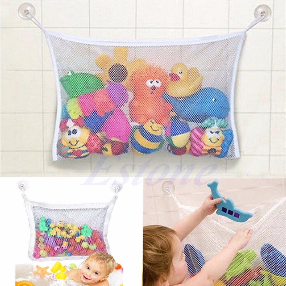 Корзина для хранения для ванной, гамак для игрушек, для детей ясельного возраста, 1 шт., аккуратная сеть, органайзер, корзина для хранения