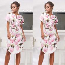 2018 été fleurs femmes robes à manches courtes Causual mode robe femmes chaude Homewear Maxi robes