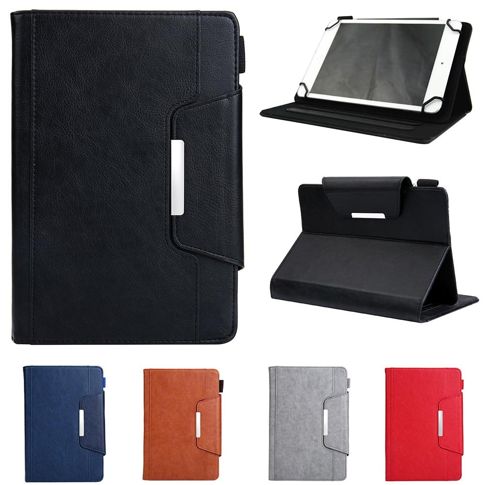 Funda Universal para Tablet pc de 10 pulgadas, funda protectora Folio con soporte para iPad, ASUS, Acer, Lenovo, Samsung, NuVision, pantalla táctil