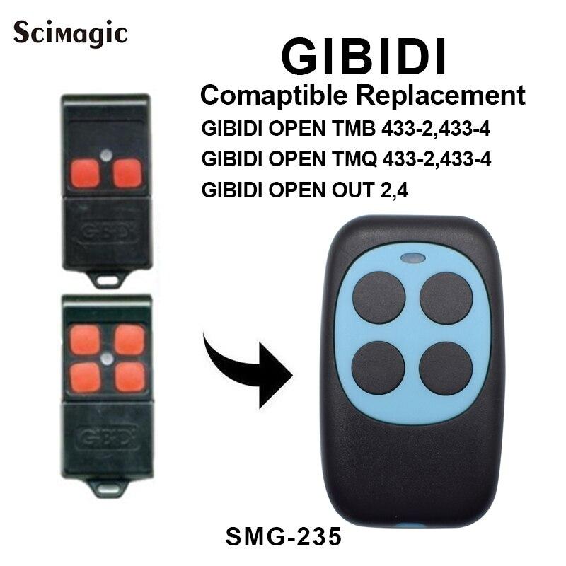 Gibidi abrir tmb/abrir tmq 433 mhz controle remoto transmissor porta da garagem fob