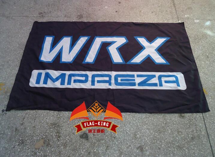 Para wrx impreza para a bandeira do carro, 100% polyster 90*150 cm bandeira, bandeira rei