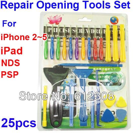 25 in 1 Reparatur Eröffnung Tool kit Phillips Torx Pentalobe Schraubendreher-set für iphone ipod ipad HTC Samsung Nokia Mobile handy