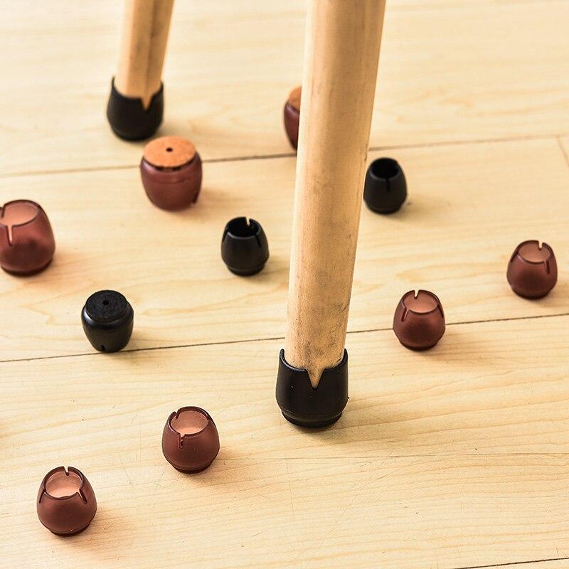 8 шт., круглые силиконовые Нескользящие крышки для ног на стул, покрытие для ног, мебель, покрытие для стола, защита для деревянного пола