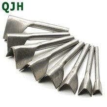 Heiße Verkäufe 8 teile/satz Neue Nützliche DIY Handwerk Cutter Punch-Strap Gürtel V-Form Leder Punch Werkzeug 10- 45mm Leder Handwerk