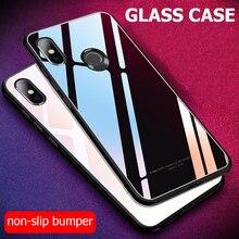 Für Xiaomi Redmi S2 Fall Luxus Stoßfest Harte Hybrid Gehärtetem Glas Abdeckung für Xiomi Xiaomi Redmi Y2 S 2 Telefon fällen