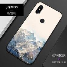 Рельефный Винтажный чехол в японском стиле для Xiaomi mi mix 3 mix3 Snow Mountain