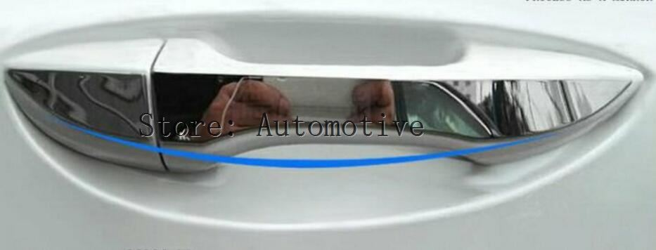 fit for corolla 2011 e140 chrome rear trunk cover trim tail gate cargo door handle garnish molding styling FIT FOR TOYOTA COROLLA E170 2014 2015-2017 CHROME DOOR HANDLE COVER TRIM MOLDING STYLING STAINLESS BEZEL OVERLAY PROTECTOR 2017
