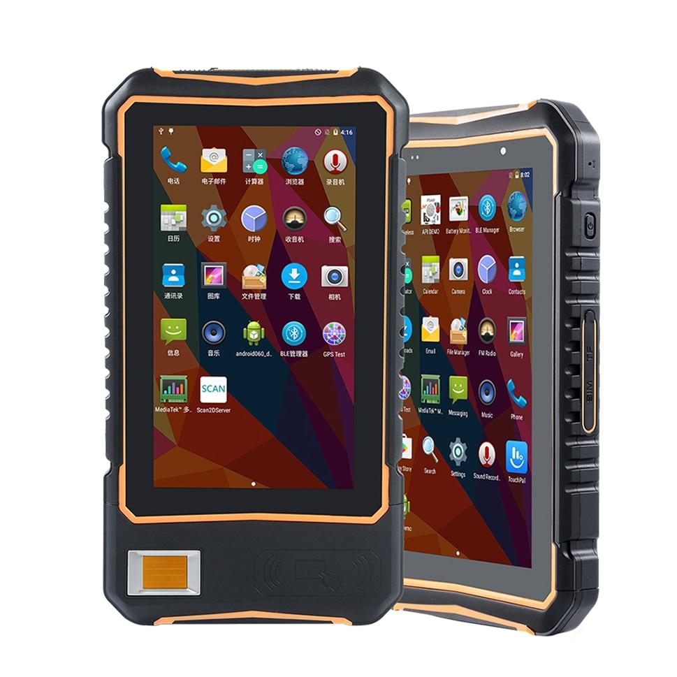 جهاز لوحي خارجي متين مقاس 7 بوصات ، محطة بيانات محمولة ، ماسح الباركود ثنائي الأبعاد ، NFC ، Android ، مع مستشعر بصمة
