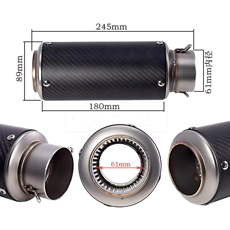 Tubo de escape Universal con láser estándar, tubo de escape deportivo para Kawasaki Z1000 R6 ZX6R Suzuki K7 K8 K9 K11 GSXR1300