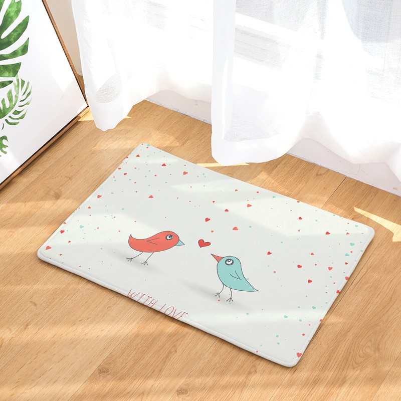 Direito transfronteiriço laiwu 3d impressão tapete pássaro quarto casa sala de estar tapetes de impressão dos desenhos animados personalizado
