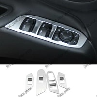 fit for chevrolet equinox 2017 2018 abs chrome car window switch panel cover tirm 4pcsset