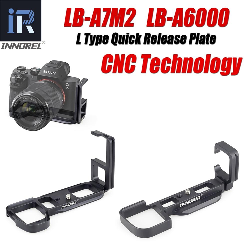 INNOREL LB-A7M2 LB-A6000 L Тип БЫСТРОРАЗЪЕМНАЯ пластина LB-A7 II рукоятка специально для Sony Alpha7II A7R2 A7M2 A7II A6000