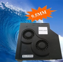 KOOLASON 9.5mm Ultrathin Laptop notebook CD Drive modified Air Cooling Cooler SATA Adjust Speed ventilation Fan turbo Radiator