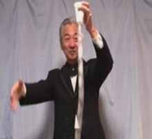 10 pcs/lot bande tasse papier bobines blanc tours de magie magicien scène Illusions accessoires Gimmicks papier tasse à taper Magia