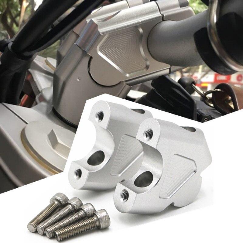Mayitr-extensor de abrazadera de manillar CNC, adaptador con pernos para BMW F700GS, F650GS, F800GS, F800R, F800GT, 2 piezas