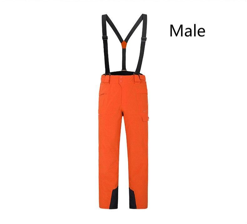 Invierno al aire libre snowboard hombres mujeres caliente resistente al desgaste impermeable windproof esquí pantalones con correas de hombro