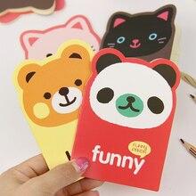 1 ud. Creativo coreano Libreta de escritorio suministros de oficina escuela lindo animal Panda de caricatura oso Filofax agenda estudiantes
