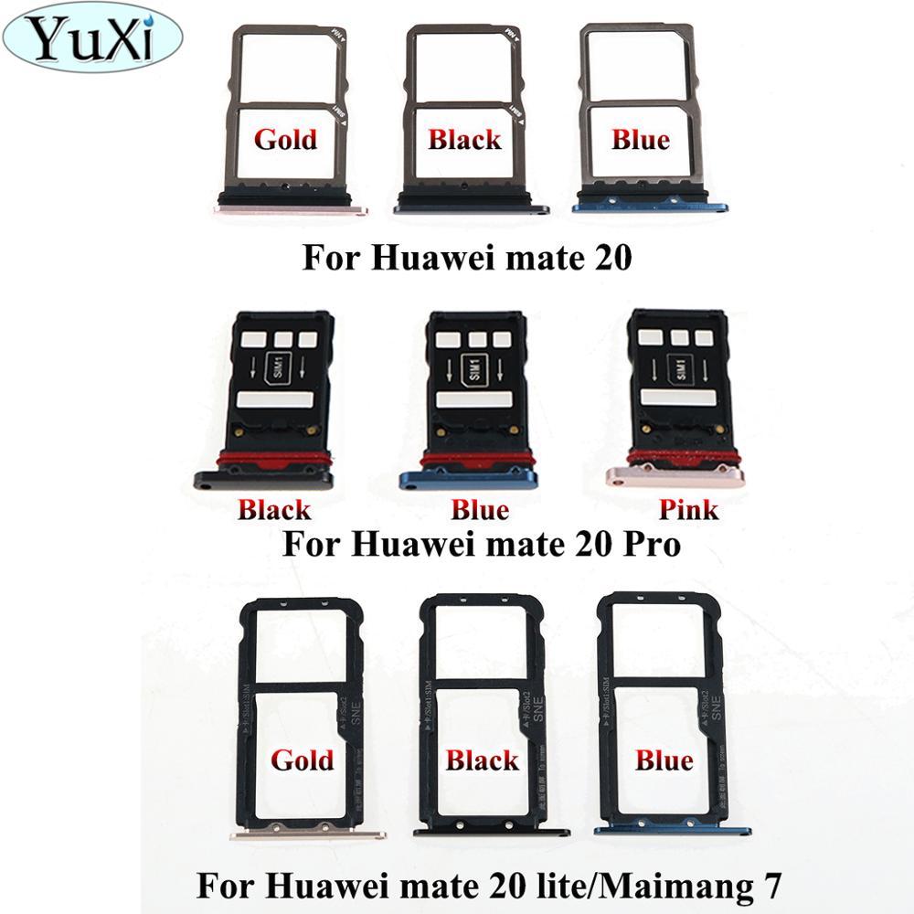 YuXi para Huawei mate20 mate 20 lite/maimang 7/mate 20 Pro Micro Sim tarjeta soporte ranura bandeja adaptadores de reemplazo para mate 20 lite