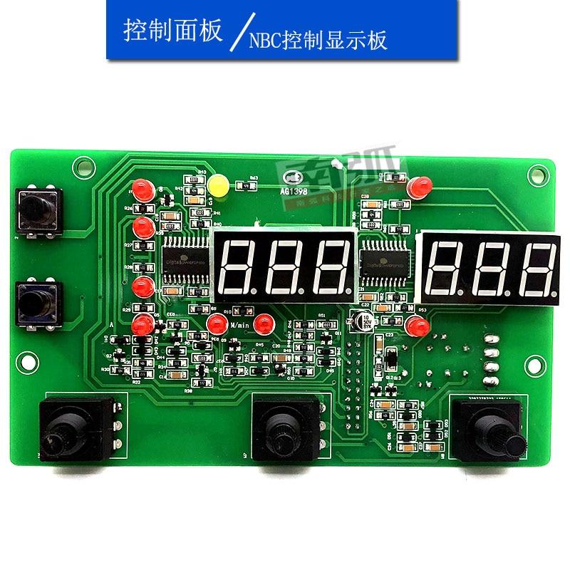 NBC300GW لوحة التحكم الغاز محمية آلة لحام IGBT آلة لحام للعاكس لوحة عرض رقمية