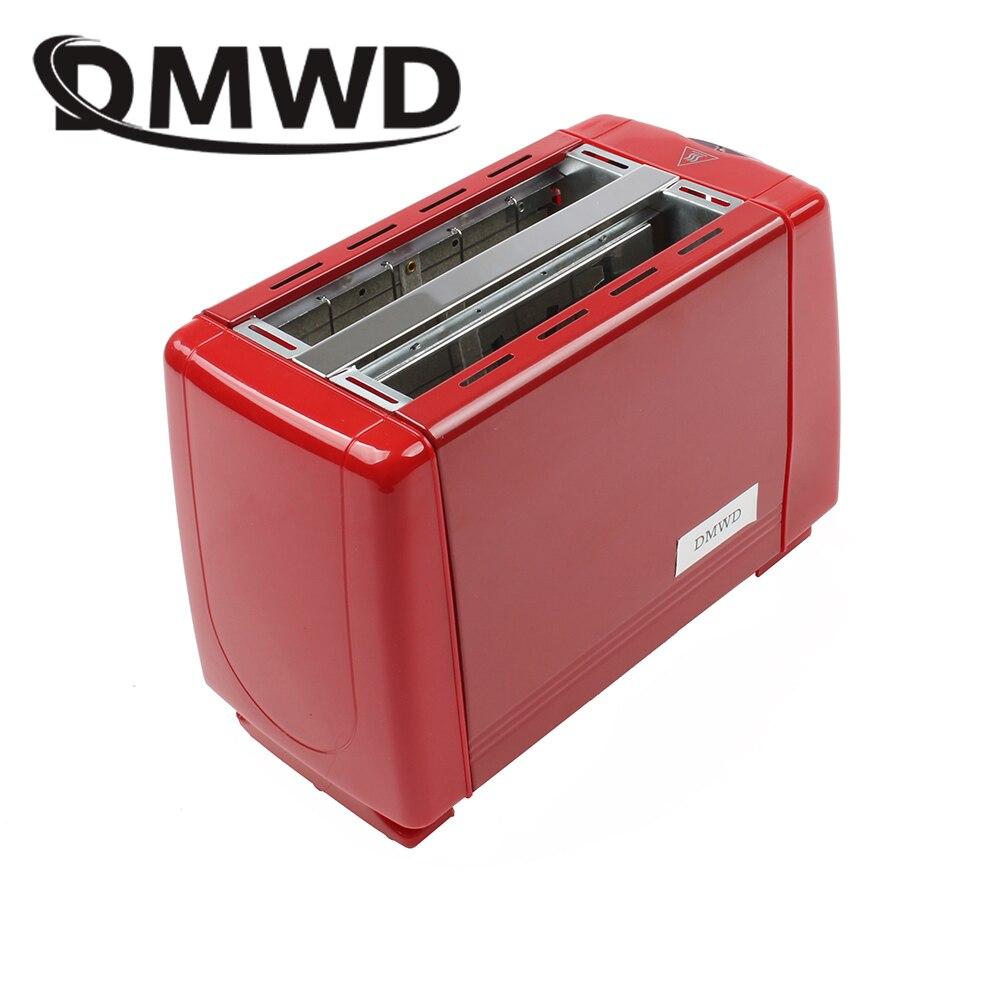 Tostadora automática DMWD, 2 rebanadas, horneando tostado, horno eléctrico, conductor de aspas, Mini máquina de desayuno doméstica, máquina de hacer pan de dos ranuras, EU