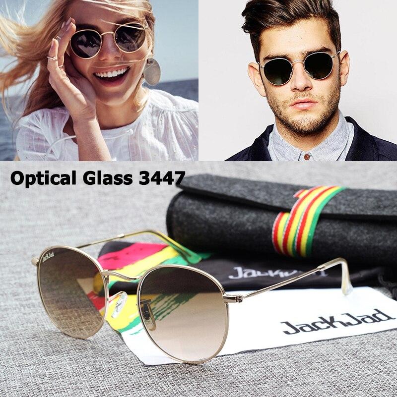 Солнцезащитные очки JackJad JJ3447, винтажные высококачественные круглые очки с оптическим стеклом в классическом ретро-стиле