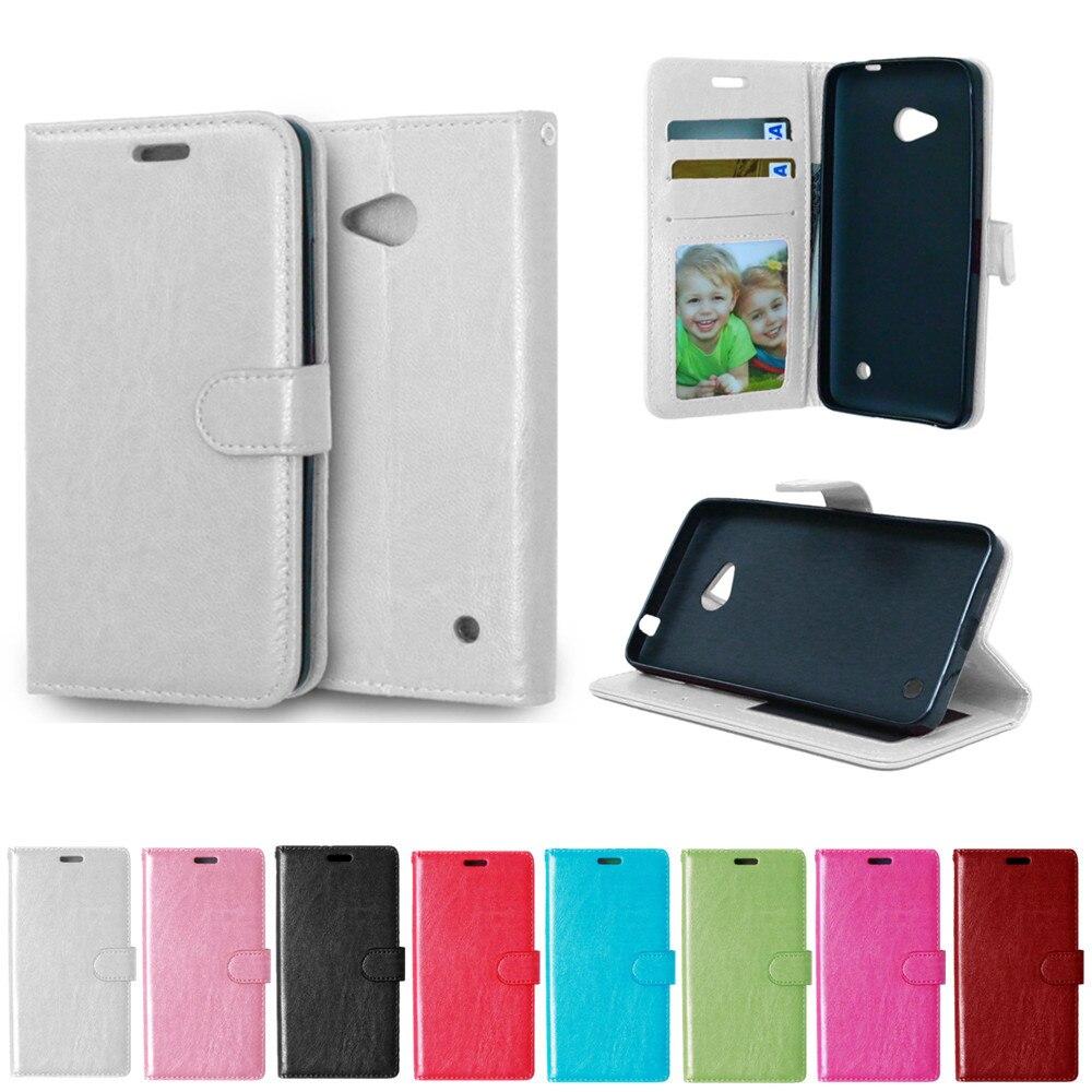 Funda abatible para Microsoft Nokia Lumia 640 LTE, Dual Lumia640, RM-1072 RM-1074, RM-1109, Funda de cuero del teléfono RM 1072 1074 1109