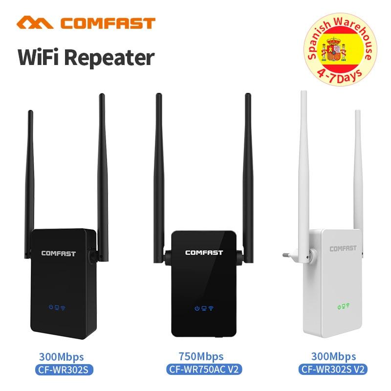 Comfast 300-750 Мбит/с беспроводной Wi-Fi ретранслятор усилитель сигнала 2 * 5dbi антенна беспроводная точка доступа AP Wi Fi диапазон расширения маршрути...