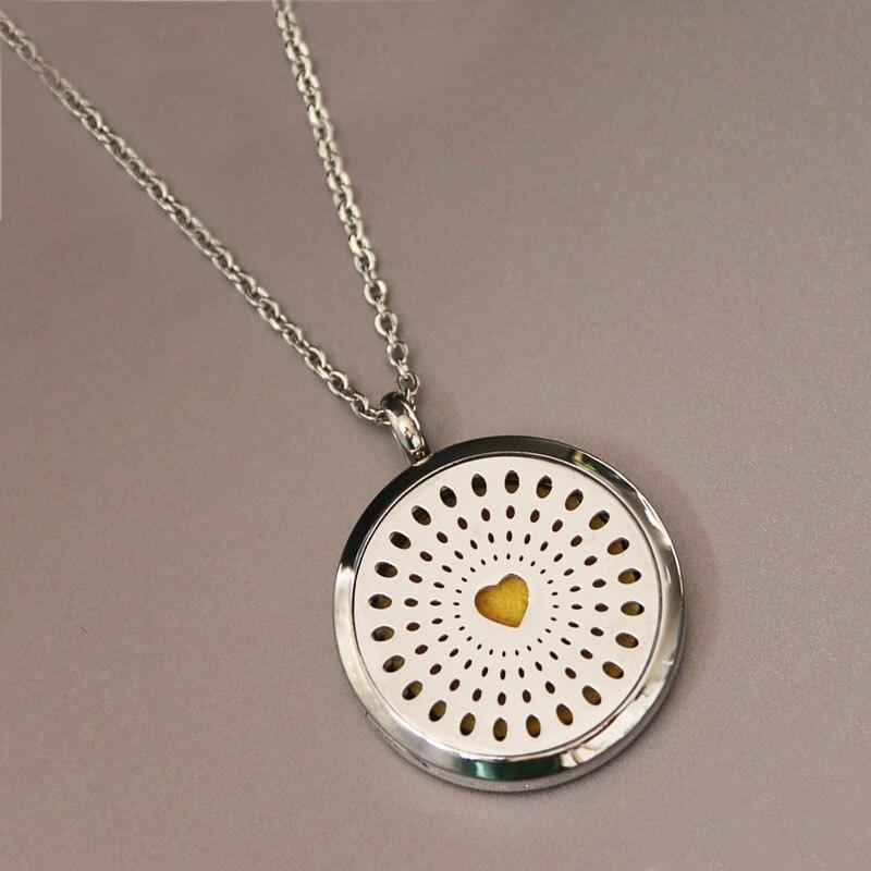 1 Pza corazón medallón caja de acero inoxidable Collar personalizado nombre personalizado ciencia joyería colgantes collares mujeres hombres regalo