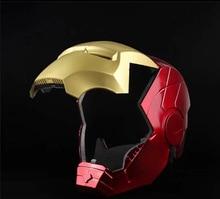 Marvel Avengers fer homme casque Cosplay 1:1 lumière Led Ironman masque PVC figurine jouets