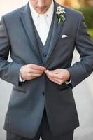 custom made grey men wedding suits groom best man formal tuxedos jacketwaistcoatpants a312