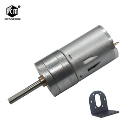 16 об/мин-1360 об/мин микро низкоскоростной маленький мотор-редуктор с 25 мм * 4 мм длинным выходным валом с кронштейном l-образный монтажный DC мотор-редуктор