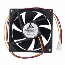 Gdstime – ventilateur de refroidissement pour PC, 12V, 3 broches, 8025, 80x25mm, 10 pièces par LOT