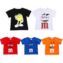 Cotton Baby t shirt short sleeve o-neck summer boy's girl's T shirt clothing M Chocolates Lovely bebe tops costume