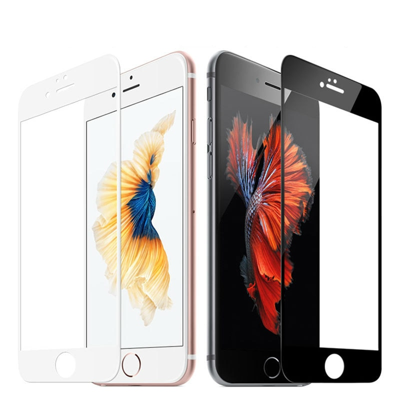 Funda completa templada de vidrio curvada 3D para apple iPhone8 7 6plus protector de pantalla para iPhone7 6s 8 Plus película protectora