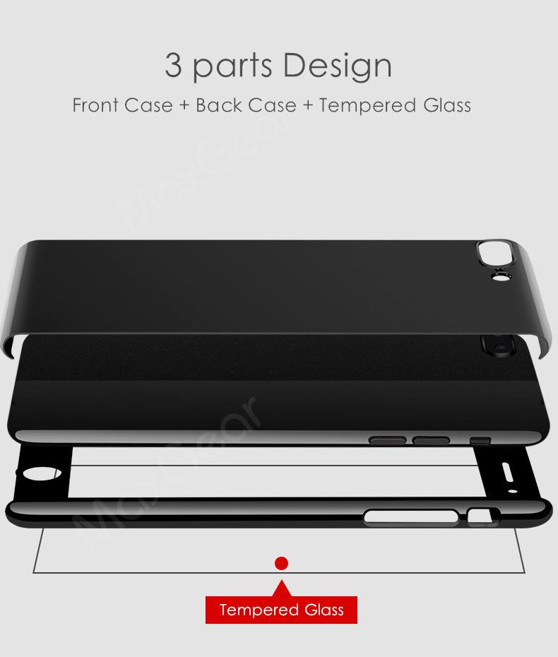 Luksusowe Piano Black 360 Stopni Ciężka PECET Skrzynki Dla Apple iPhone 5 5S SE 6 6 S 7 Plus Szczupła Całe Ciało Pokrywa Capa + Szklany Ekran Protector 2
