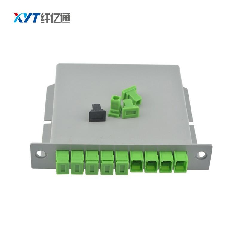 Fiber Branching Device 1x8 Box Cassette Card Inserting PLC Splitter Module SC Connector Fiber Optical PLC Splitter