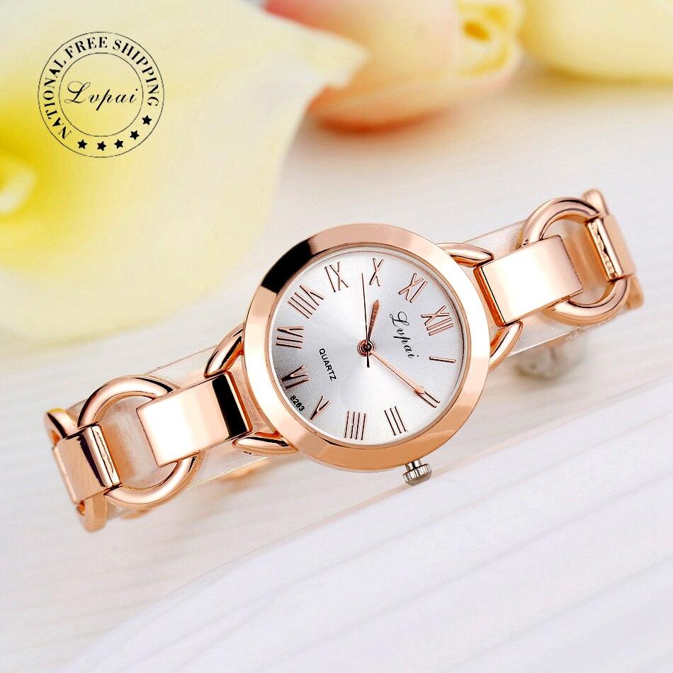 модные часы женские 2017 Lvpai бренд Роскошные Часы-браслеты женские Наручные Часы  Кварцевые Часы Спорт LP024