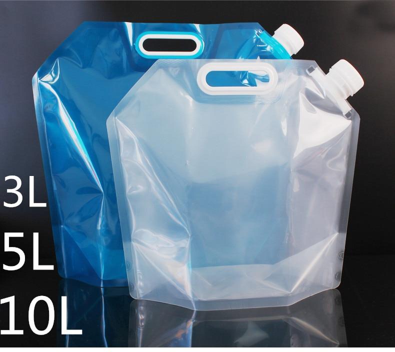 5L10L вместительная складная сумка для воды, складная многоразовая гибкая ручная подъемная походная наружная бутылка для выживания