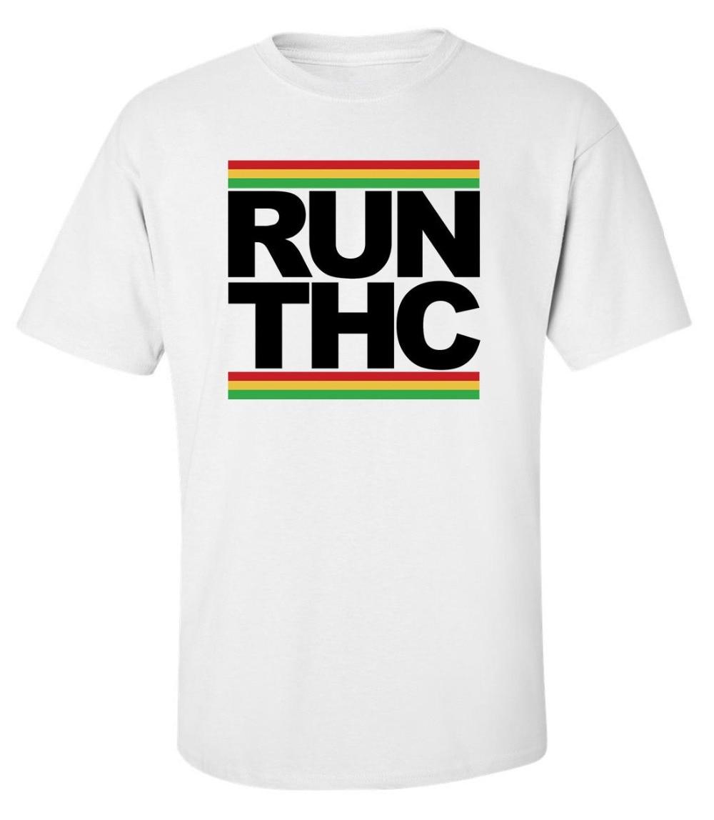 Novedad de 2019, camiseta a la moda para hombre, Blanca Camiseta de algodón con estampado de hierba Hippie Rasta para hombre, camisetas geniales