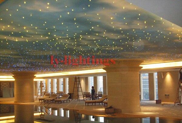 DIY optic fiber light kit led light+ mix size optical fibres RGB color change star ceiling wireless RF remote point light