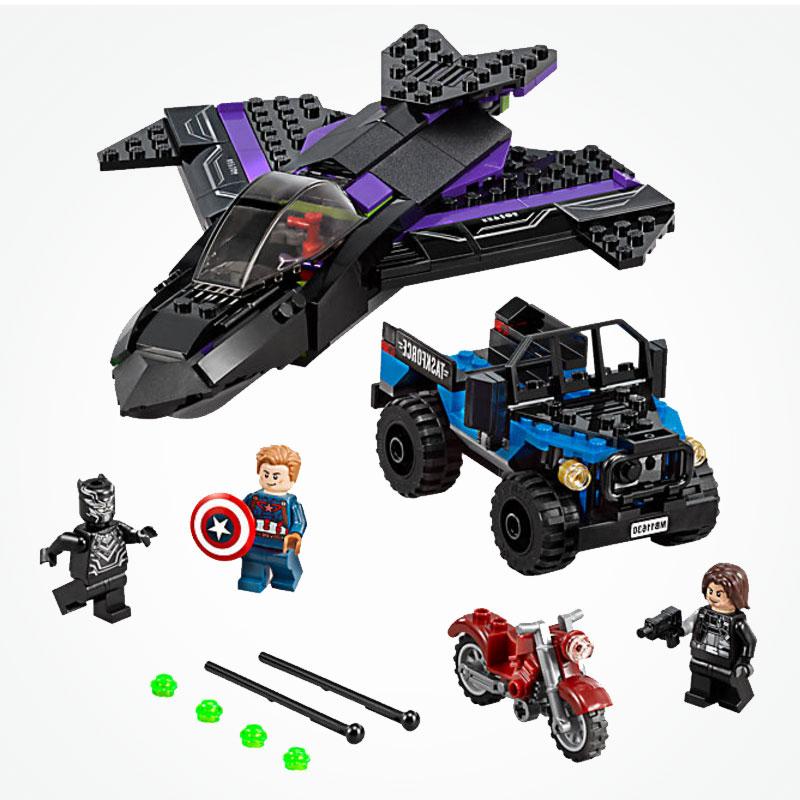 Decool 7122 vengadores Infinity War Pantera Negra Avión de bloques de construcción Compatible LegoINGlys Los vengadores de Marvel final 76047
