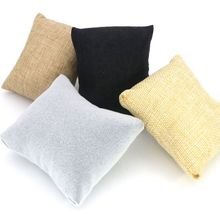 3 Pcs/lot 4 Colors Fabric Watch Bangle Bracelet Pillow Display Holder Gift Jewelry Cushion For Cases