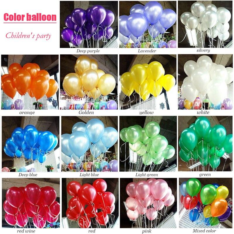 100 шт./лот, воздушные шары на день рождения, для вечеринки, 1,5 г, 10 дюймов, украшения, красные, белые, золотые латексные шарики для свадьбы, круглые прозрачные шары