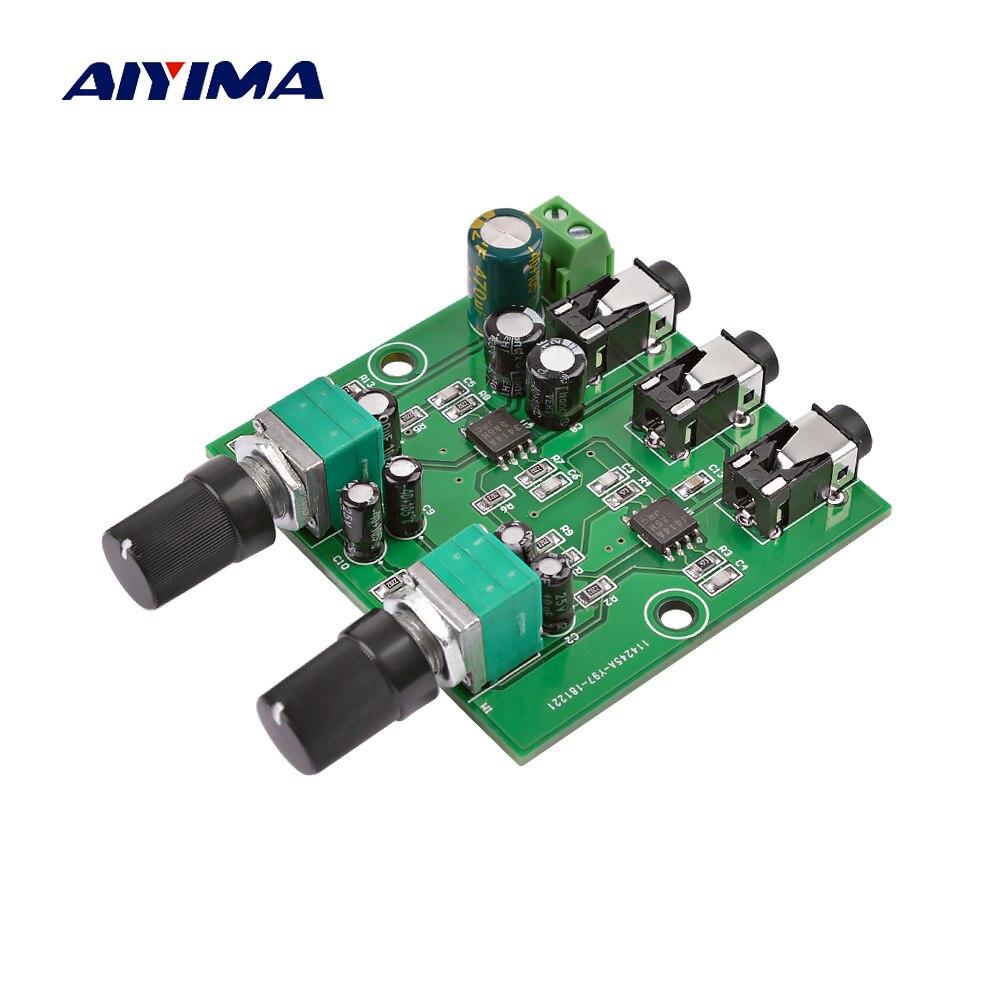 AIYIMA 2Way стерео аудио сигнальный микшер плата Многоканальная смесительная плата для одностороннего усиления Выход гарнитура усилитель аудио