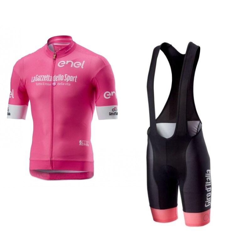 2018 розовый комплект girode italia tour de italy для велоспорта, летняя велосипедная одежда, MTB road Ropa Ciclismo, велосипедные шорты с нагрудником