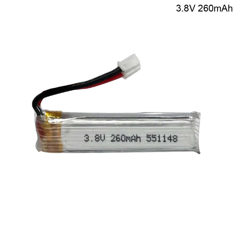 3.8V 260mAh Lipo Battery PH2.0 Plug Connecor for US65 UK65 QX65 for Happymodel Mobula7 Drone FPV Part toy part battery