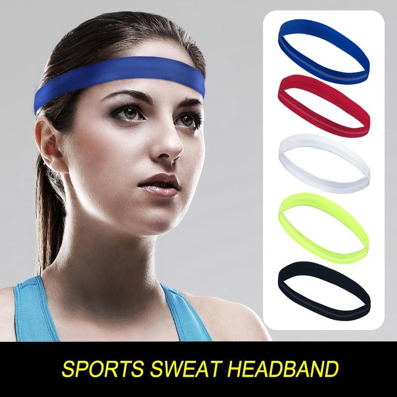 Sports headband fitness yoga hair band female male sweat-absorbent non-slip running antiperspirant sweat band Football Tennis